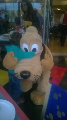 Oisin and Pluto Hug